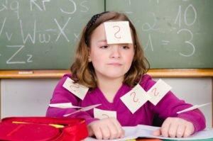 Schulkind Dyskalkulie
