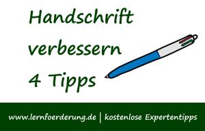 4 Tipps mit denen Sie die Handschrift Ihres Kindes verbessern