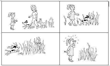 Bildergeschichte Hund