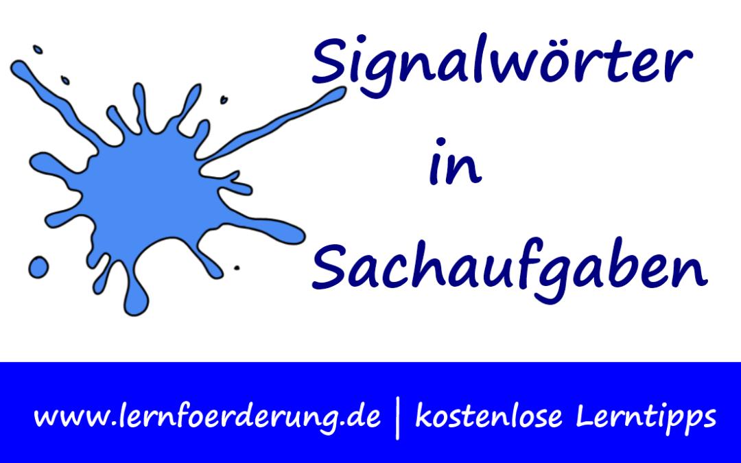 Mathe: Signalwörter Textaufgaben lösen
