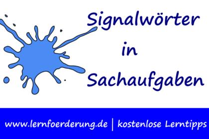 Signalwörter in Textaufgaben