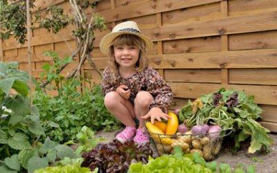 Garten mit Kindern ist in