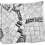 einfaches Strich-Zentangle