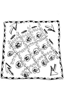 Zentangle Muster Blume
