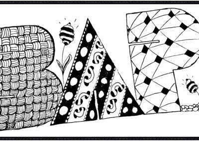Buchstaben Zentangle