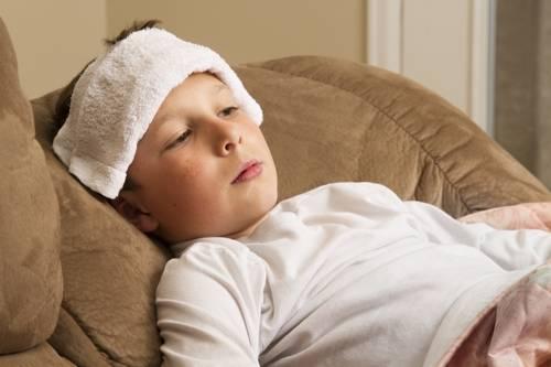 Krankes Kind durch Schulangst