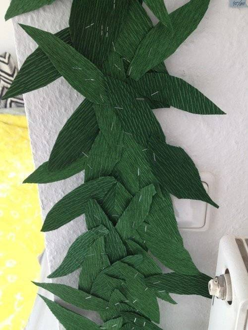 Papierblumen Basteln Dschungel Girlande Im Kinderzimmer