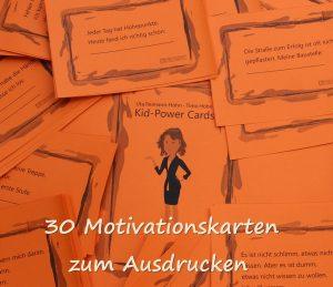 Motivationskarten Kinder Kid Power Cards