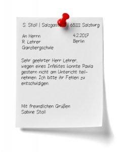 Briefentschuldigung Lernfoerderung Kostenlose Expertentipps
