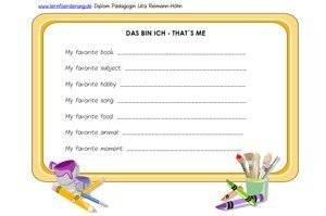 Mit Diesem Steckbrief Spielerisch Englisch Lernen In Der Grundschule