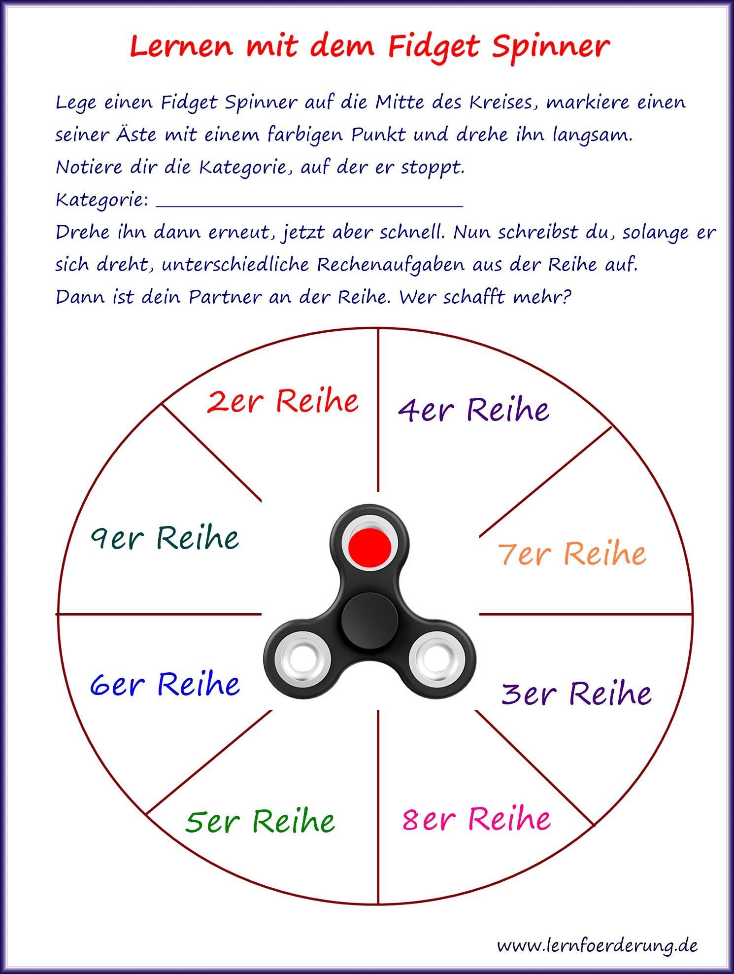 Mit dem Fidget Spinner besser in Deutsch und Mathe