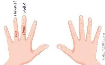 Vokabeln lernen mit der Fingermethode