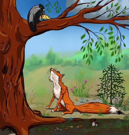 Fuchs und Rabe