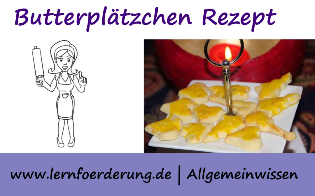 Butterplätzchen Rezept