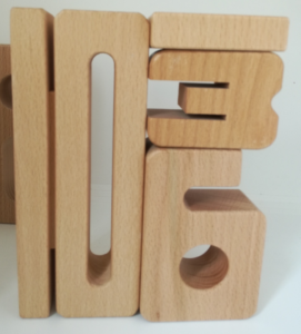 SumBlox Rechnen mit Holz-Ziffern