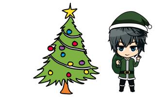 Crafty am Weihnachtsbaum