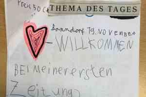 7jähriger schreibt eigene Zeitung