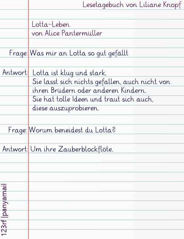 Lotta-Leben Lesetagebuch