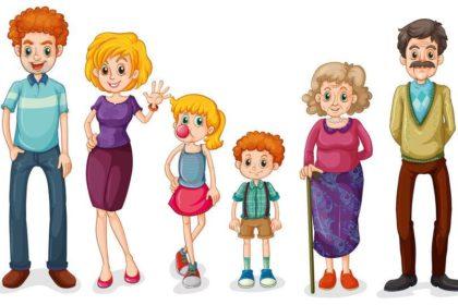Helenes Familie feiert Einschulung