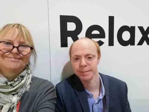 Timo Höhn und Uta Reimann-Höhn auf der Buchmesse 2019 in Frankfurt
