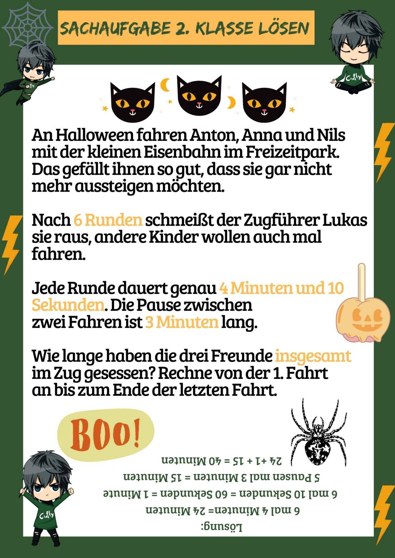 Sachaufgabe Halloween