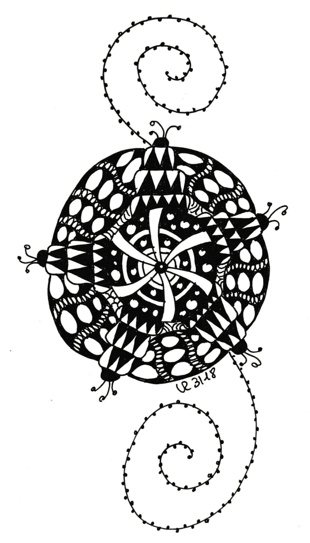 Zentangle Ding
