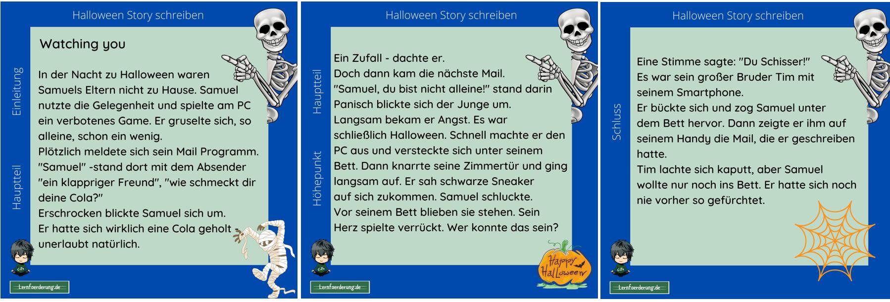 Halloween Gruselgeschichte schreiben